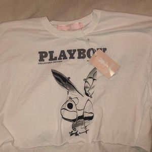 Playboy x miss guided crop top